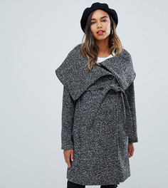 Шерстяное пальто с запахом Mamalicious - Серый Mama.Licious