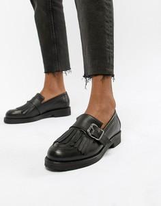 Черные кожаные лоферы Office Fisher - Черный