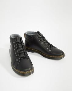 Черные ботинки с 6 парами люверсов Dr Martens Plaza - Черный