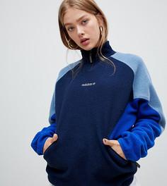 Темно-синий флисовый джемпер adidas Eqt - Темно-синий