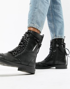 Черные ботинки на шнуровке RAID Overa - Черный