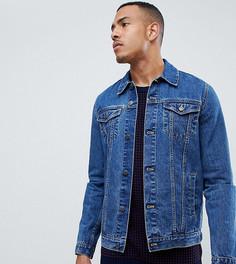 Синяя выбеленная джинсовая куртка ASOS DESIGN Tall - Синий