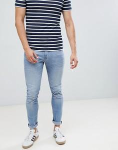 Светлые джинсы скинни Tom Tailor - Синий