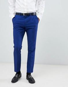 Синие зауженные брюки Burton Menswear - Синий