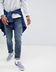 Винтажные джинсы слим Lee Rider - Синий