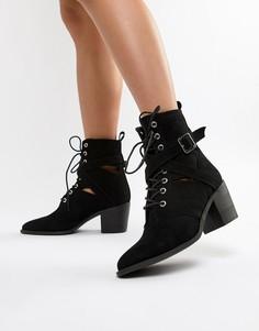 Черные ботинки на каблуке RAID - Черный