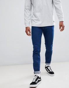 Серые супероблегающие джинсы Lee Malone - Синий