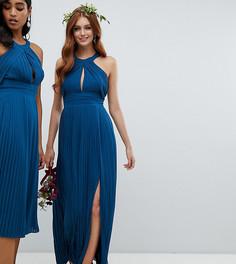 Платье макси с плиссировкой TFNC - Синий