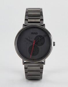 Серые наручные часы HUGO 1530012 Guide - Серый