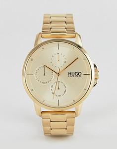 Наручные часы HUGO 1530026 Focus - Золотой