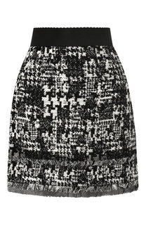Вязаная мини-юбка с бахромой Dolce & Gabbana