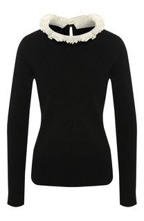 Пуловер из смеси шерсти и шелка Escada