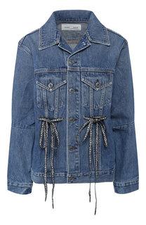 Джинсовая куртка с потертостями Proenza Schouler
