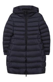 Стеганое пальто на молнии с капюшоном Il Gufo