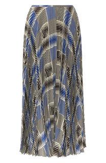 Шелковая юбка-миди с принтом Joseph