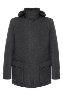Утепленная куртка из кашемира на молнии с капюшоном Loro Piana