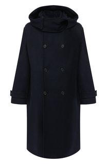 Двубортное шерстяное пальто с капюшоном Stella McCartney