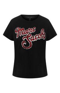 Хлопковая футболка с логотипом бренда Marc Jacobs
