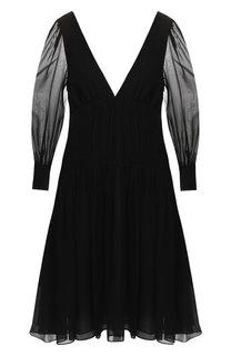 Шелковое платье с V-образным вырезом Stella McCartney