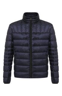 Пуховая куртка на молнии с воротником-стойкой HUGO