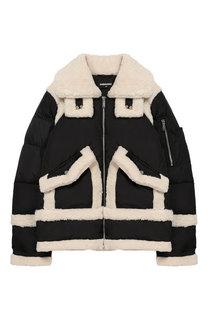 Куртка на молнии с фактурной отделкой Dsquared2