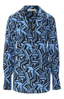 Шелковая блуза с принтом Chloé
