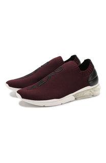 Текстильные кроссовки без шнуровки DKNY