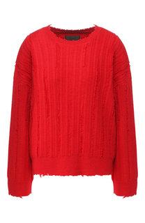 Вязаный пуловер с круглым вырезом RTA