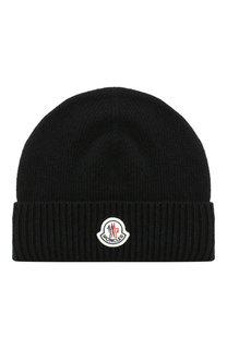 Шерстяная шапка с логотипом бренда Moncler
