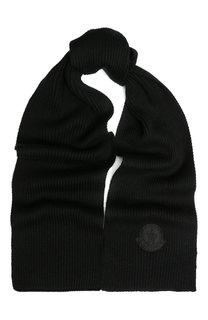 Шерстяной шарф фактурной вязки Moncler