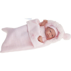 Кукла-младенец Juan Antonio Munecas Карла в розовом, 26 см