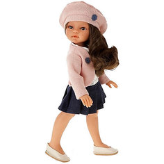 Кукла Juan Antonio Munecas Эльвира в берете, брюнетка, 33 см