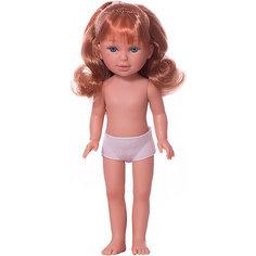Кукла Vestida de Azul Паулина с медными волнистыми волосами, 33 см