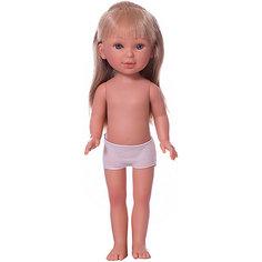 Кукла Vestida de Azul Паулина блондинка с прямыми волосами без чёлки, 33 см