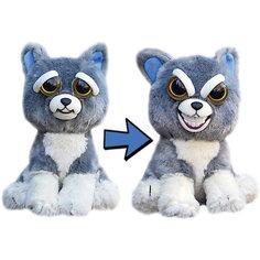 Мягкая игрушка FeistyPets Собака, серая, 22 см