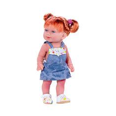 Кукла Кина в джинсовом комбинезоне, умеет стоять, серия soft touch, Vestida de Azul