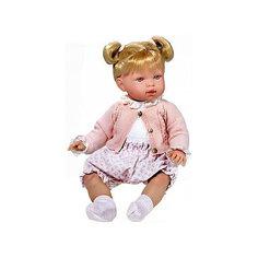 Кукла-пупс Vestida de Azul Марина с хвостиками в наряде для прогулки, 45 см (звук)
