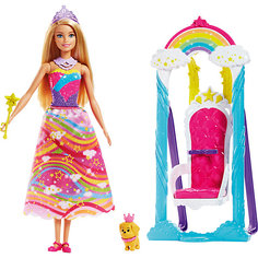 """Набор с куклой Barbie """"Dreamtopia"""" Принцесса и радужные качели, 29 см Mattel"""