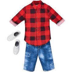 "Одежда для куклы Barbie ""Наряд для Кена"" Красная клетка Mattel"
