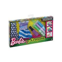 """Игровой набор Barbie Crayola """"Сделай моду сам"""" Платье, футболка и юбка Mattel"""