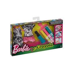 """Игровой набор Barbie Crayola """"Сделай моду сам"""" Сарафан, футболка и шорты Mattel"""