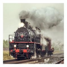 Панно (40х40 см) Поезд 1718020К4040 Ekoramka