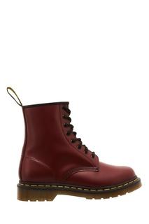 Красные кожаные ботинки Dr.Martens