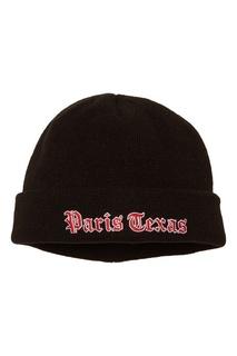 Черная вязаная шапка Jieda