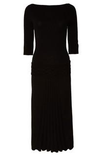 Черное платье с узором Tegin