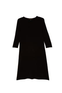 Черное кашемировое платье Tegin