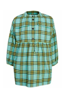 Платье в клетку с карманами Burberry Kids