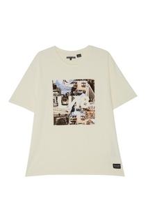 Бежевая футболка с принтом Levis®