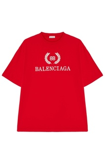 Красная футболка с логотипом Balenciaga