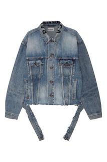 Джинсовая куртка с логотипом Balenciaga